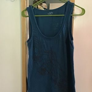 Teal Loft tank with bronze beading, small
